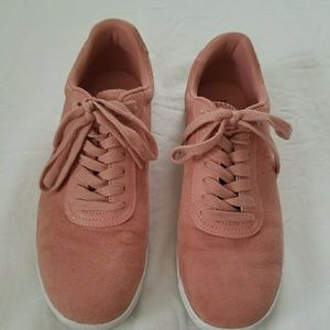 H&M Faux Suede Blush Sneakers Size US 8